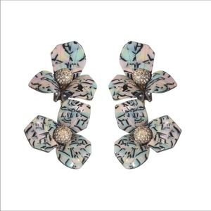NWOT Anthro Sadoughi Floral Clip on Earrings